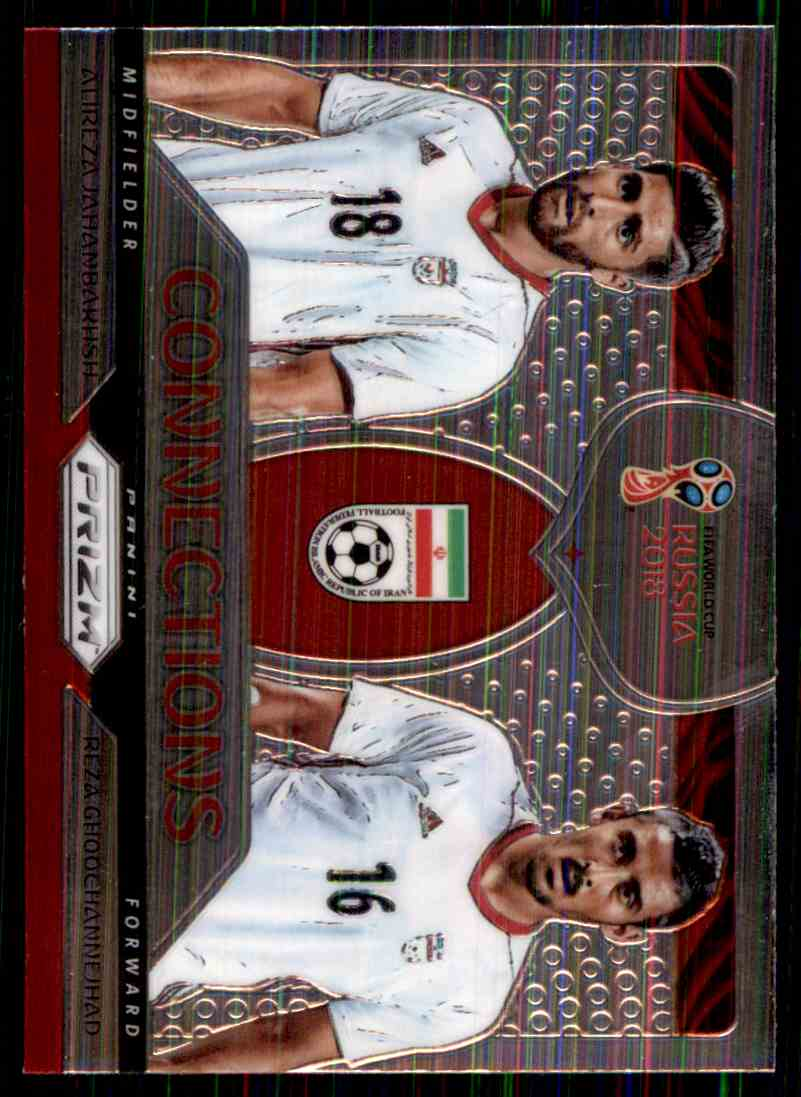2018 Panini Prizm World Cup Connections Alireza Jahanbakhsh/Reza Ghoochannejhad #10 card front image
