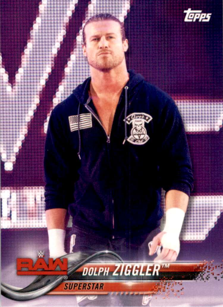 2018 Topps Wwe Then Now Forever Dolph Ziggler #123 card front image
