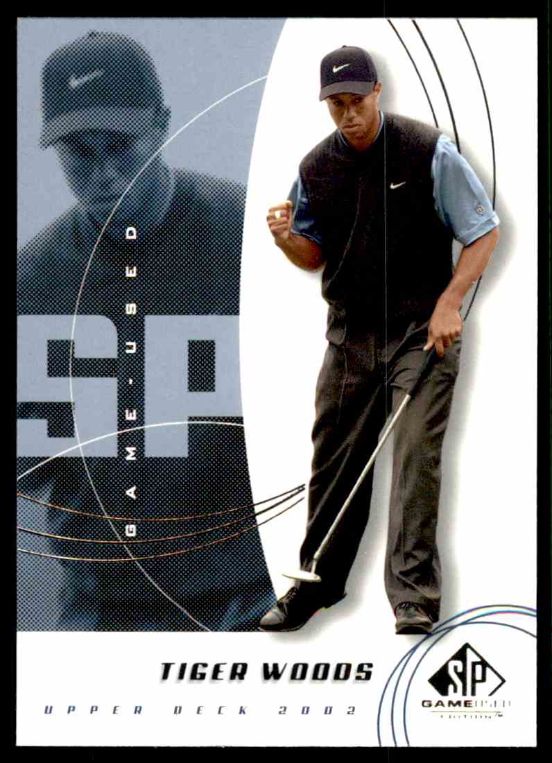 2002 SP Game Used Tiger Woods #1 card front image