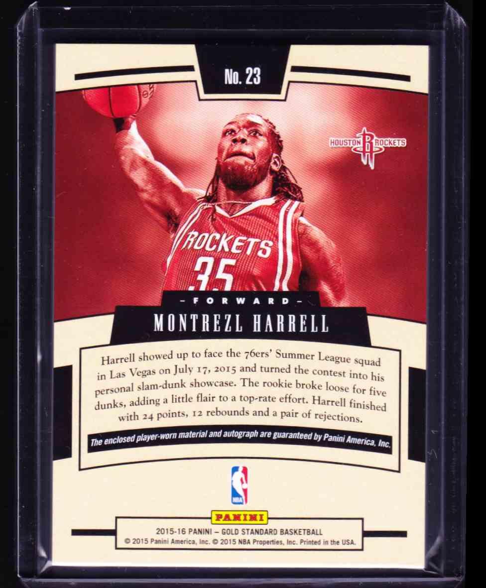 2015-16 Panini Gold Standard Montrezl Harrell card back image