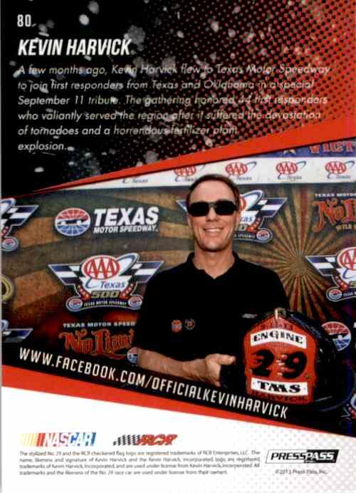 2014 Press Pass Kevin Harvick #80 card back image