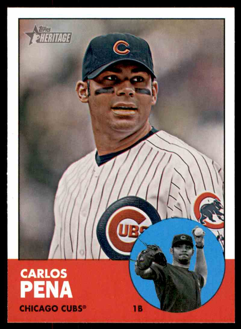 2012 Topps Heritage Carlos Pena #380 card front image