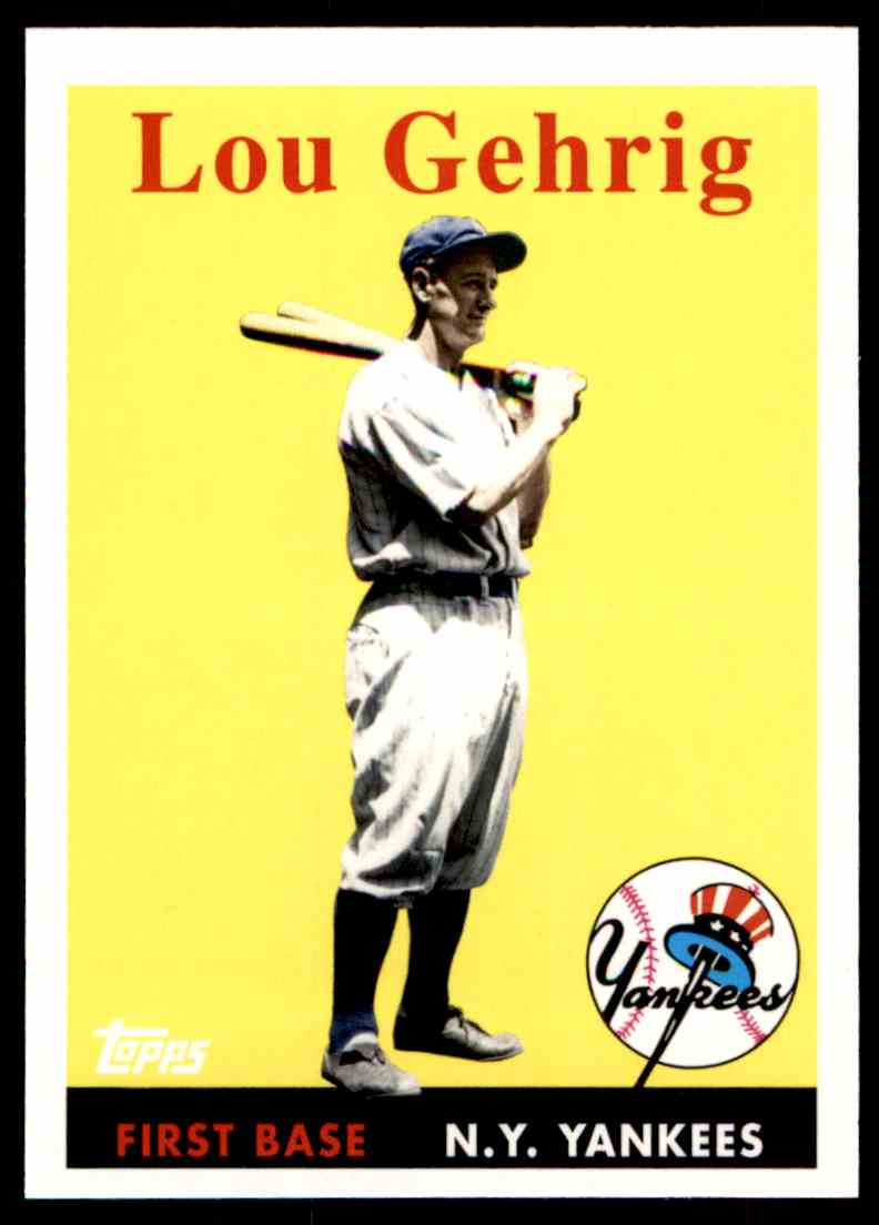2010 Topps Vintage Legends Collection Lou Gehrig #VLC1 card front image