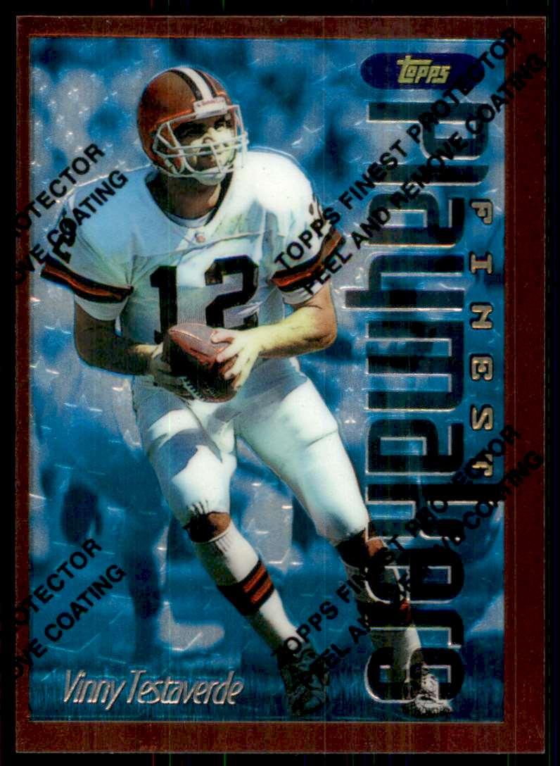 1996 Finest Vinny Testaverde B #286 card front image
