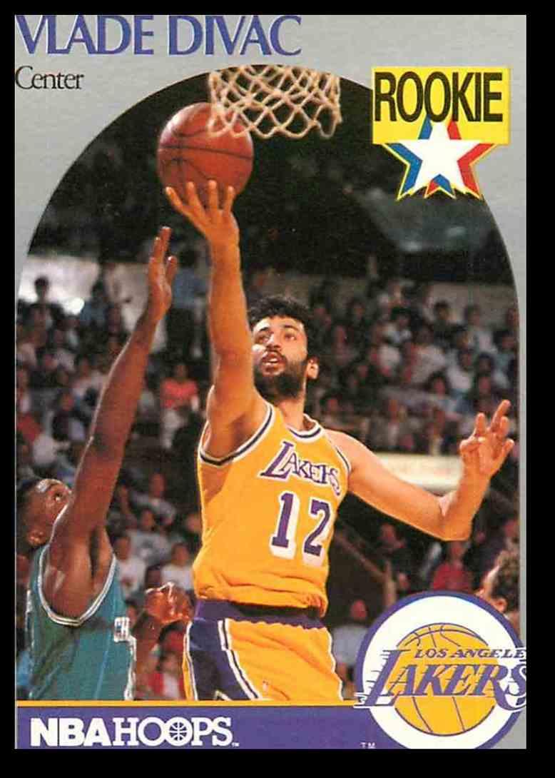 1990-91 NBA Hoops Vlade Divac #154 card front image