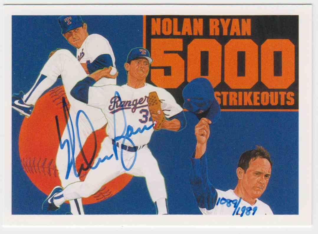 1990 Upper Deck Baseball Heroes Nolan Ryan 34 On