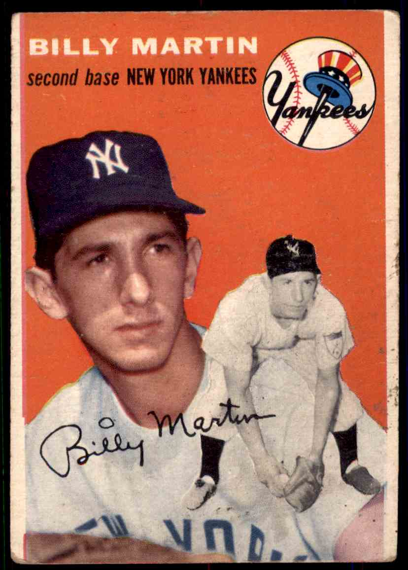 1954 Topps Billy Martin #13 card front image