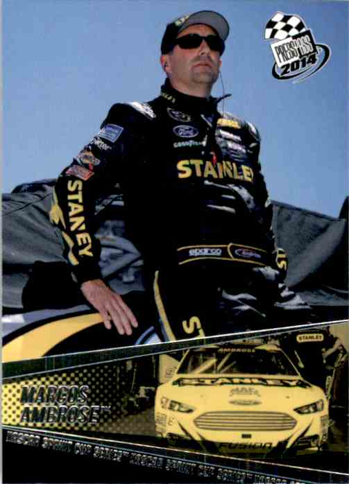 2014 Press Pass Marcos Ambrose #2 card front image