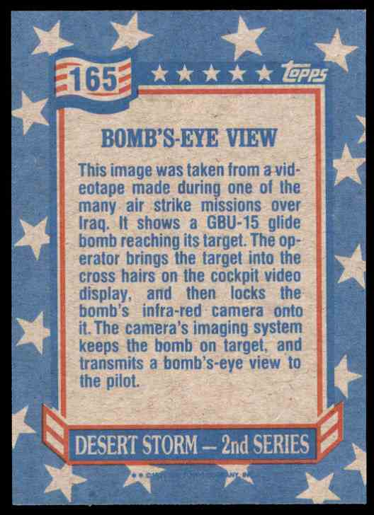 1991 Desert Storm Topps Bomb's-Eye View #165 card back image
