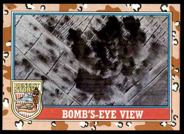 1991 Desert Storm Topps Bomb's-Eye View #165 card front image
