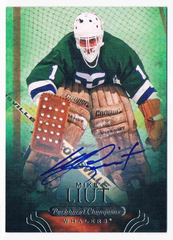 2011-12 Parkhurst Champions Autograph Mike Liut (A) #72 card front image