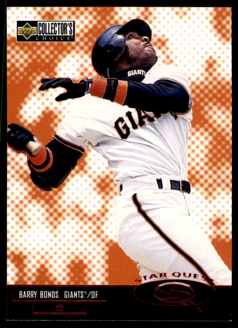 1998 Collector's Choice StarQuest Barry Bonds #SQ39 card front image