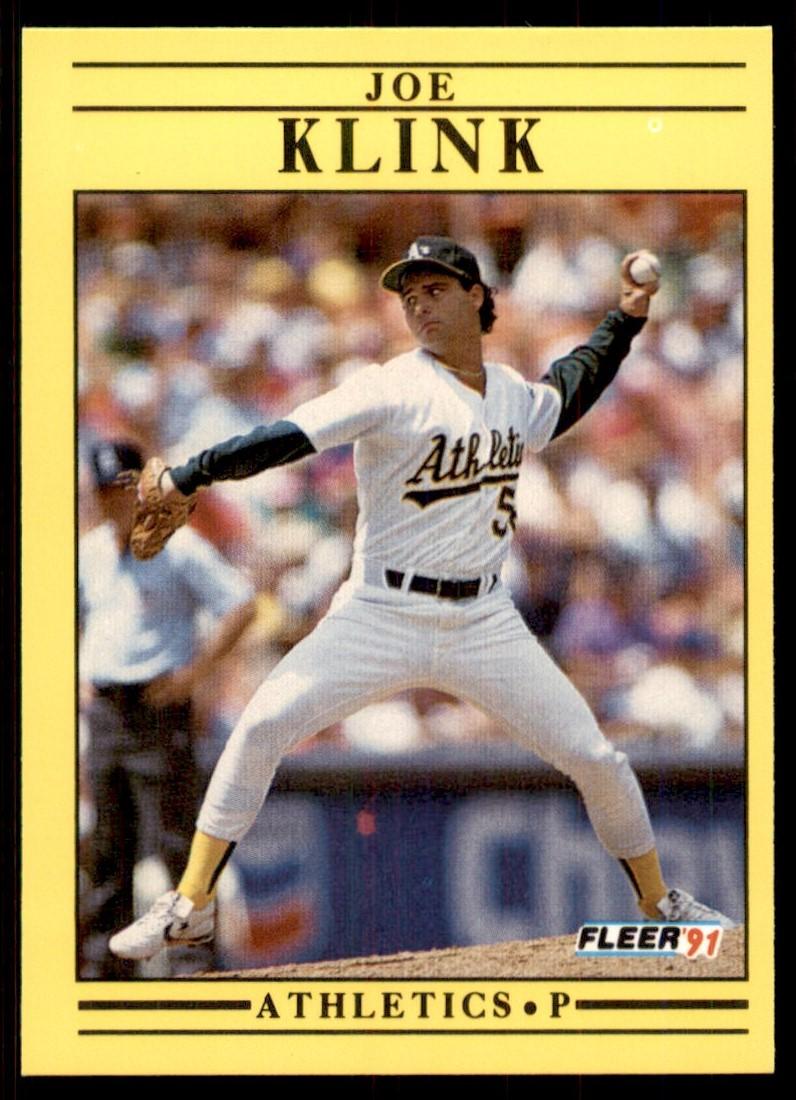 1991 Fleer Joe Klink #13 card front image