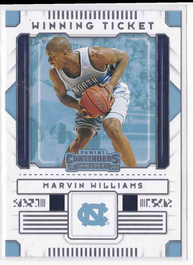 2020-21 Panini Contenders Draft Picks Winning Ticket Marvin Williams #20 card front image