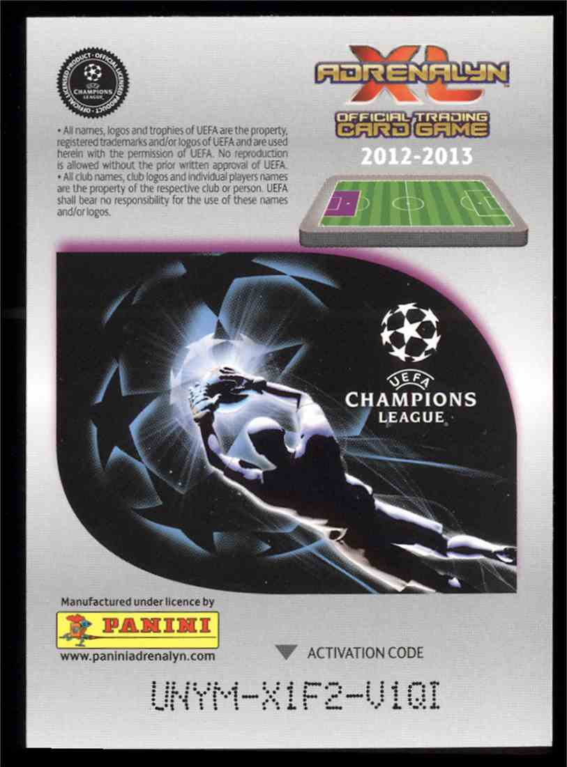 2012 Panini Adrenalyn XL Uefa Champions League Scandinavian Star Anders Lindegaard #NNO card back image