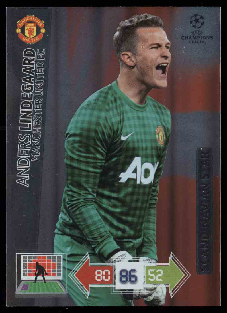 2012 Panini Adrenalyn XL Uefa Champions League Scandinavian Star Anders Lindegaard #NNO card front image