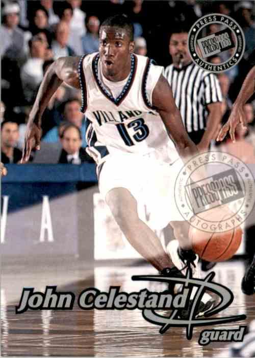 1999-00 Press Pass Authentics Autographs John Celestand card front image