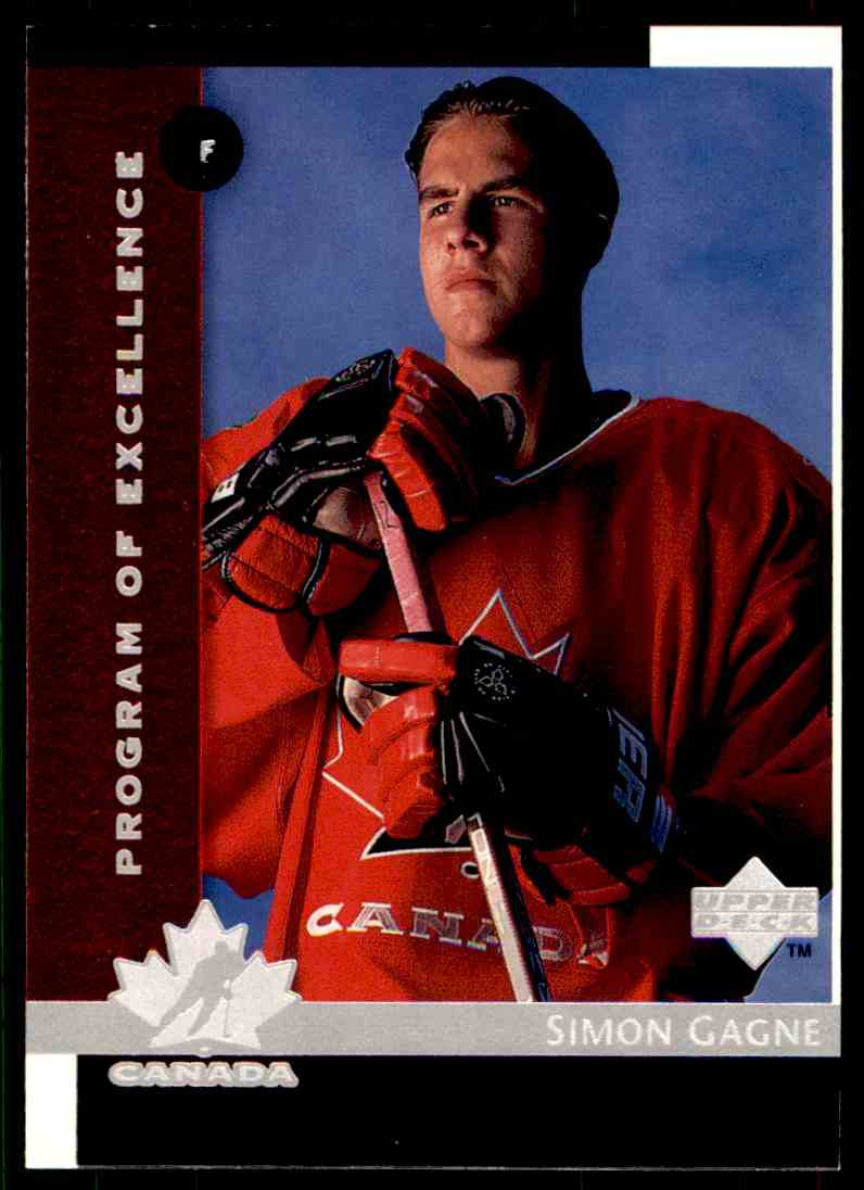 1997-98 Upper Deck Program Of Excellence Simon Gagne #411 card front image