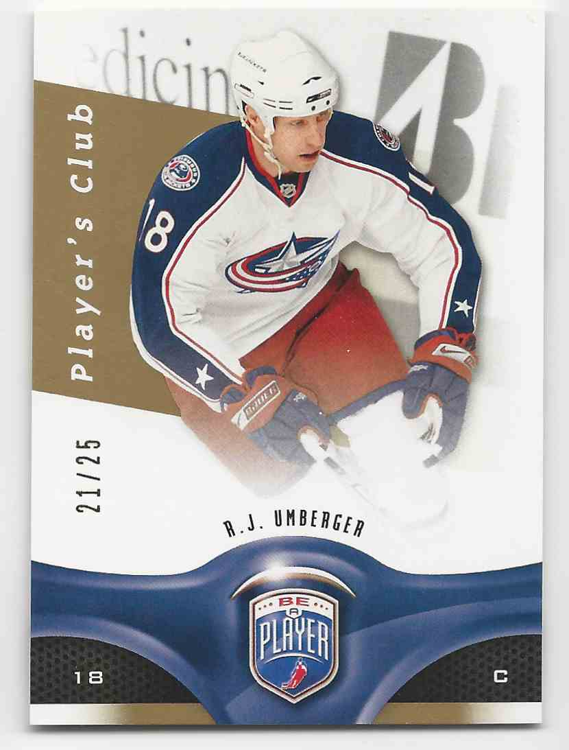 2009-10 Be A Player Player's Club R.J. Umberger #85 card front image