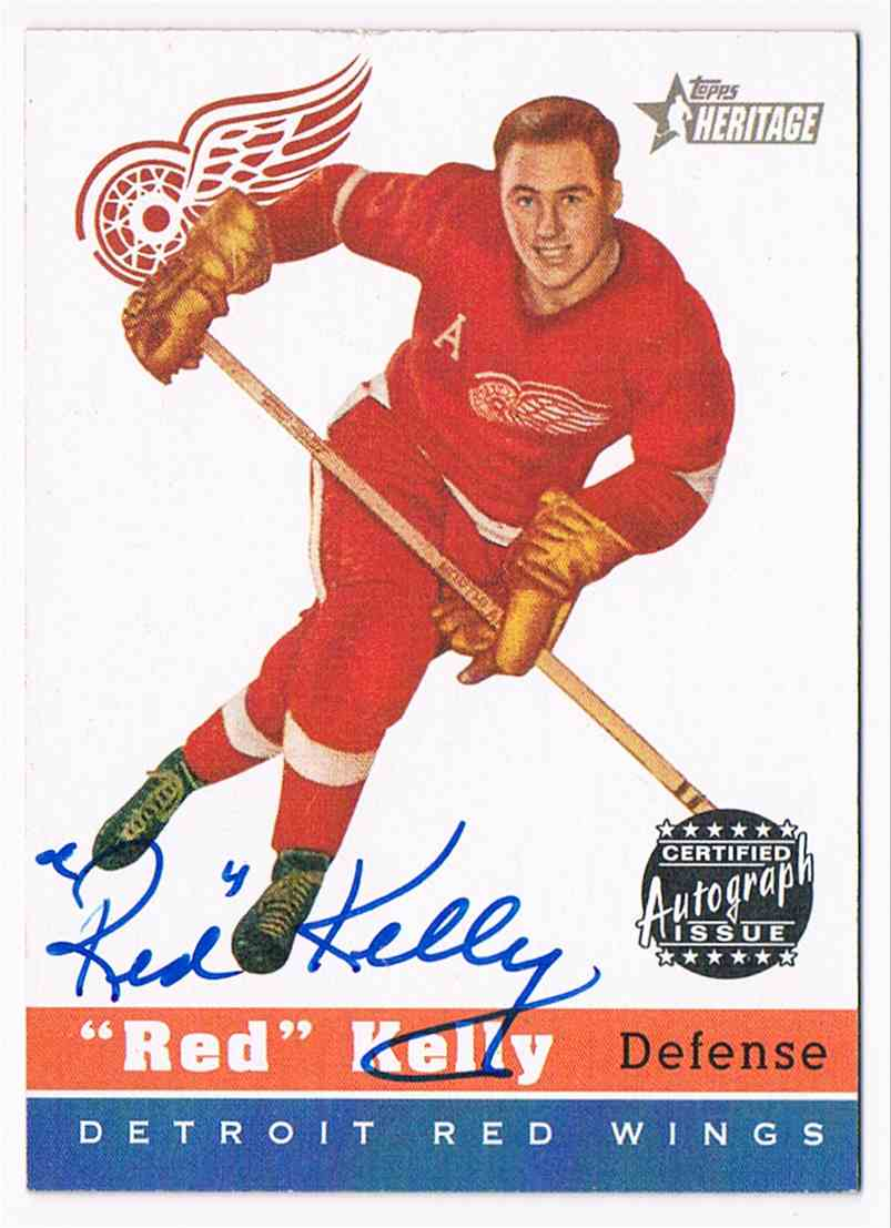 2000-01 Topps Topps Heritage Autographs Red Kelly #HA-RK card front image