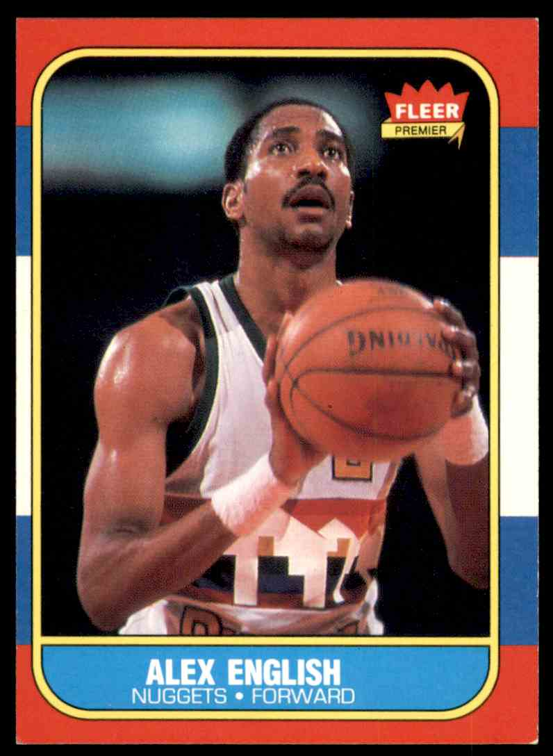 1986-87 Fleer Alex English #30 OF 132 card front image
