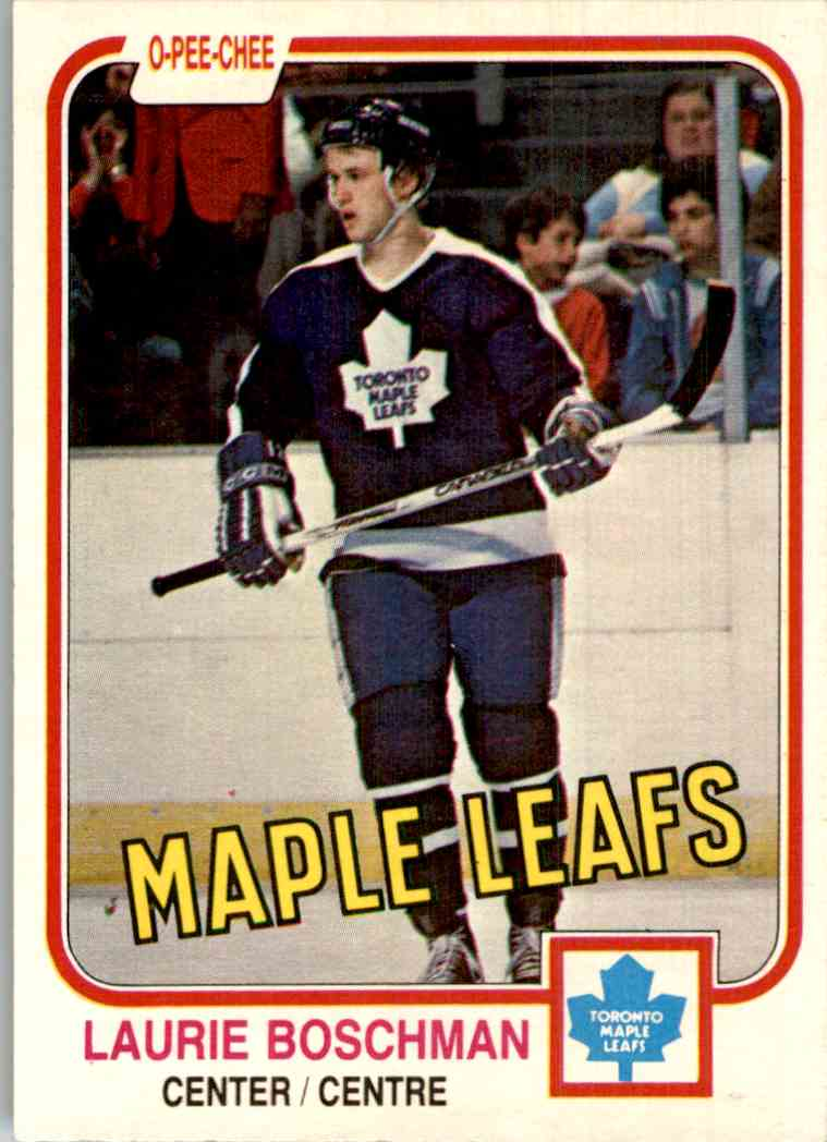 1981-82 O-Pee-Chee Laurie Boschman #314 card front image