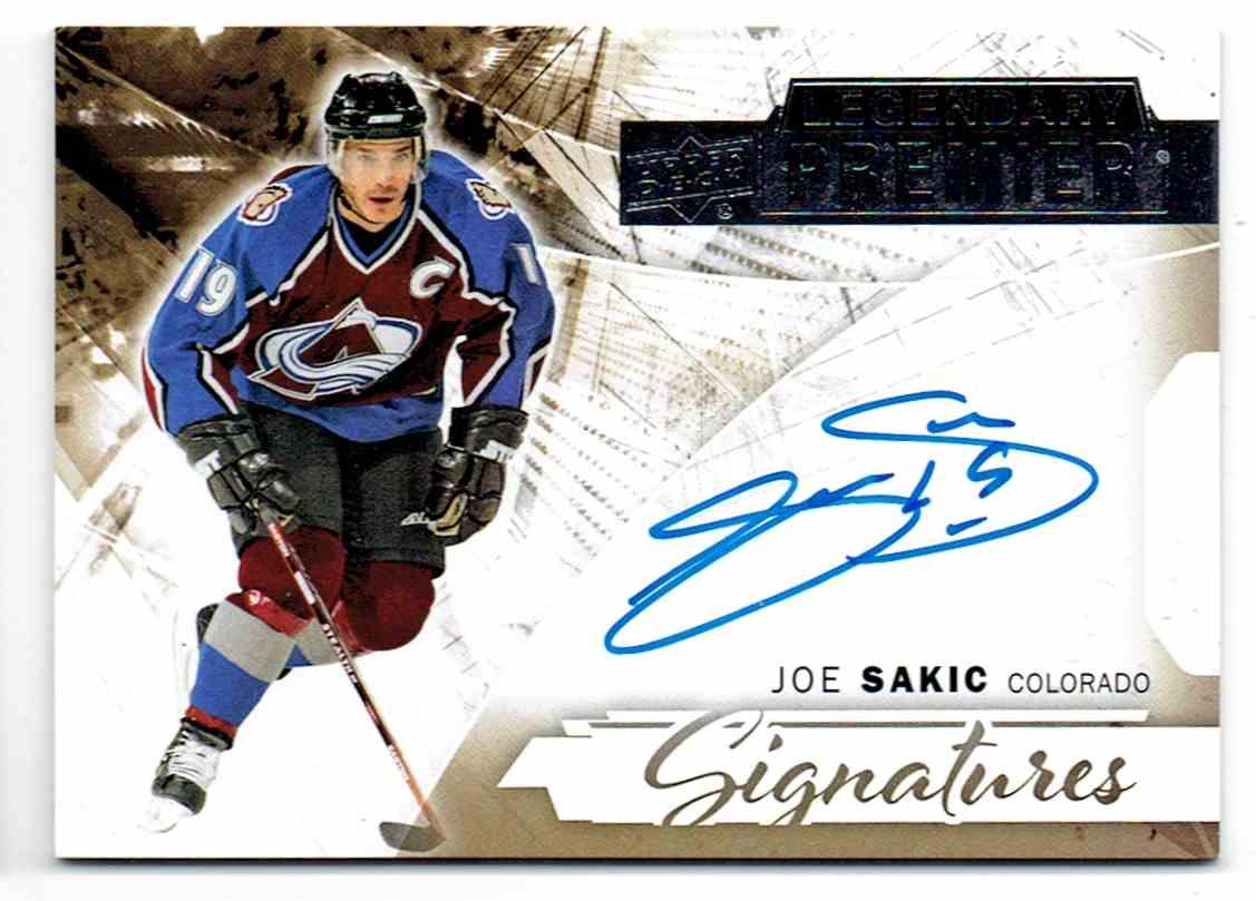 2015-16 Upper Deck Premier Legendary Signatures Joe Sakic #LPS-JS card front image