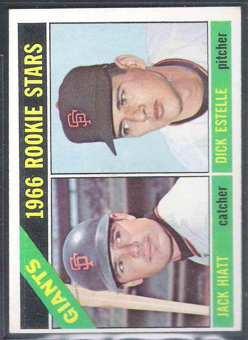 1966 Topps Jack Hiatt Dick Estelle #373 card front image