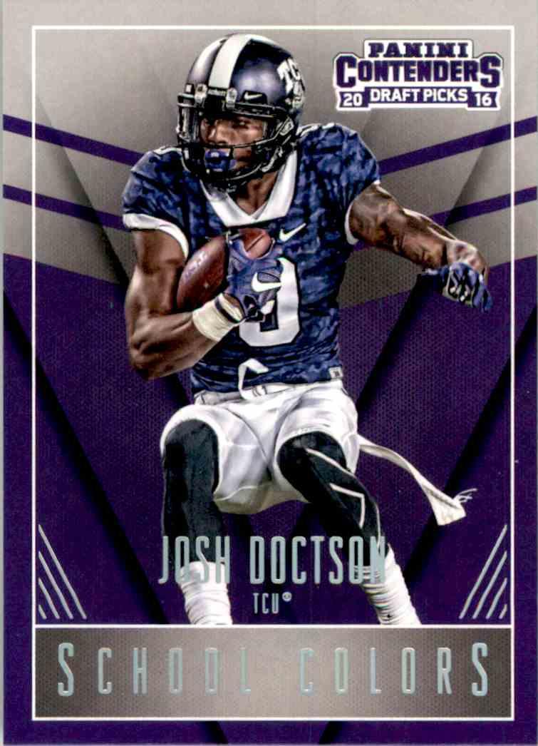 2016 Panini Contenders Draft Picks School Colors Josh Doctson #7 card front image