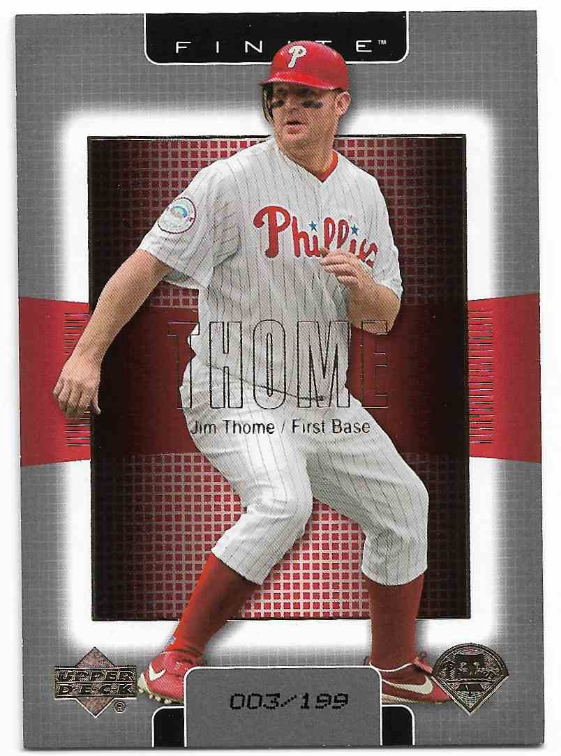 2003 Upper Deck Finite Jim Thome #76 card front image
