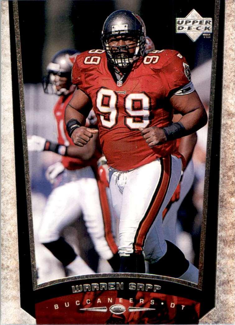 1998 Upper Deck Warren Sapp #234 card front image