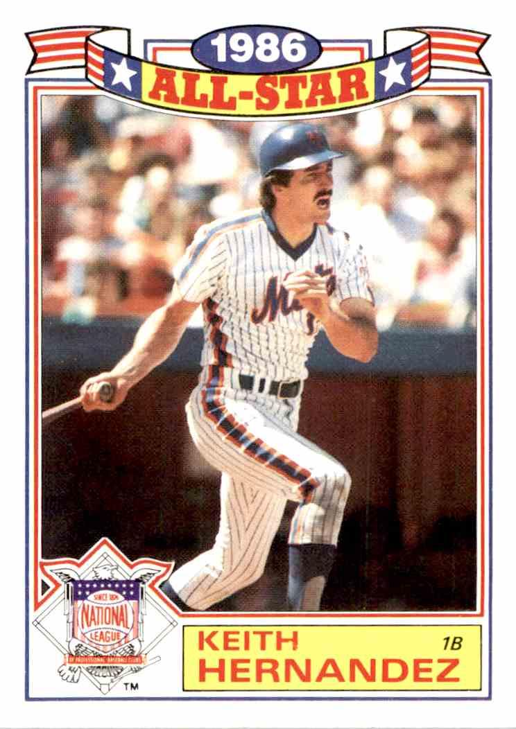 1987 Topps Keith Hernandez 2 Of 22 On Kronozio