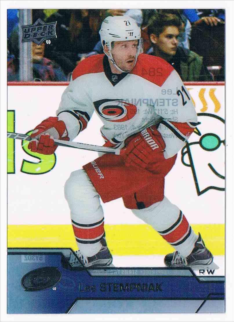 2016-17 Upper Deck Upper Deck Clear Cut Lee Stempniak #284 card front image