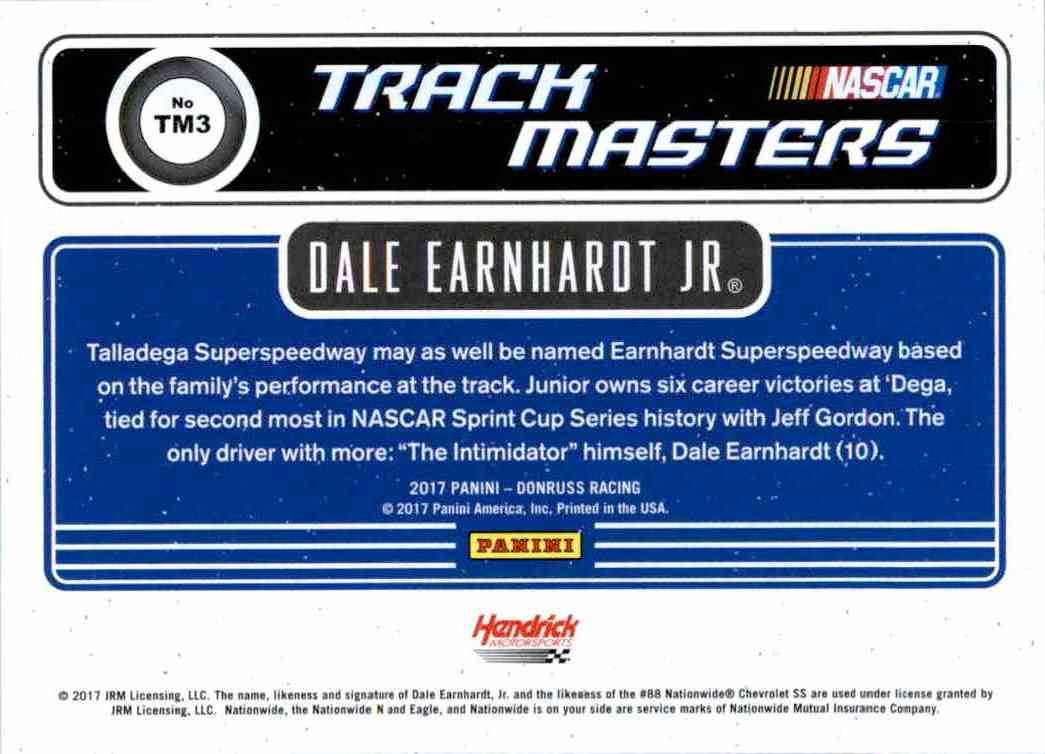 2017 Panini Donruss Racing Dale Earnhardt JR. #TM3 card back image
