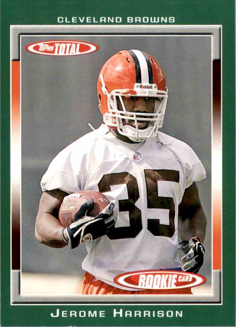 2006 Topps Total Jerome Harrison RC #506 card front image