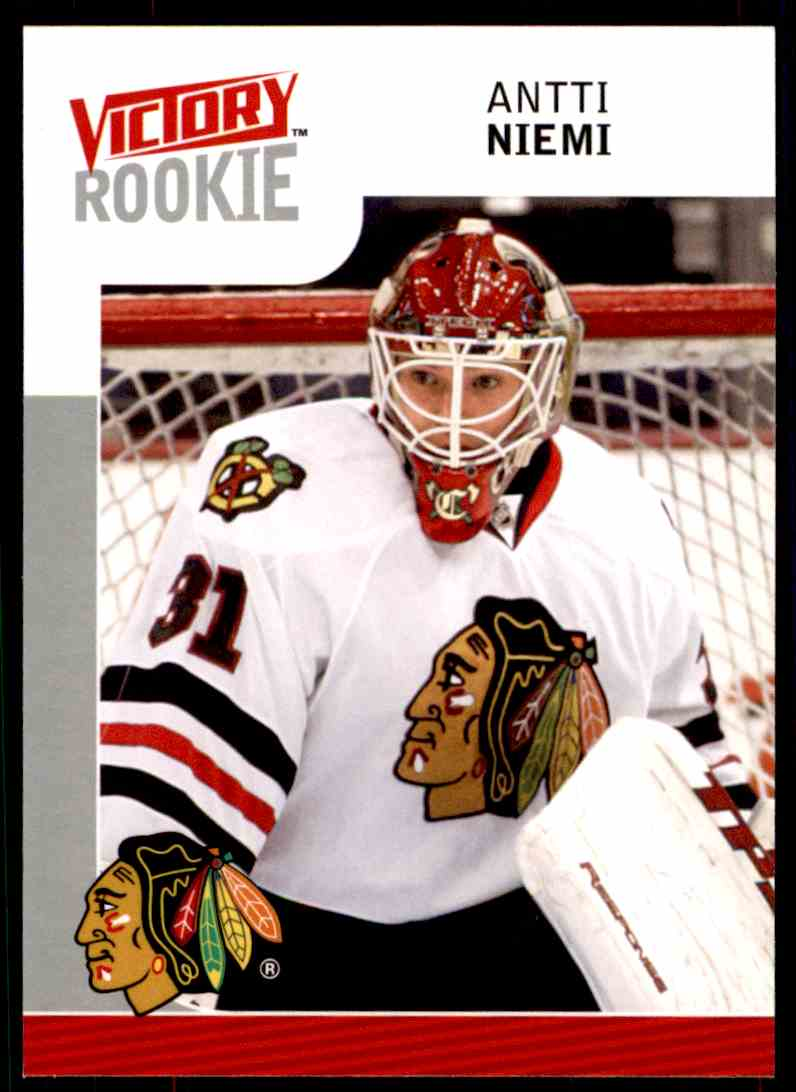 2009-10 Upper Deck Victory Rookie Antti Niemi #241 card front image