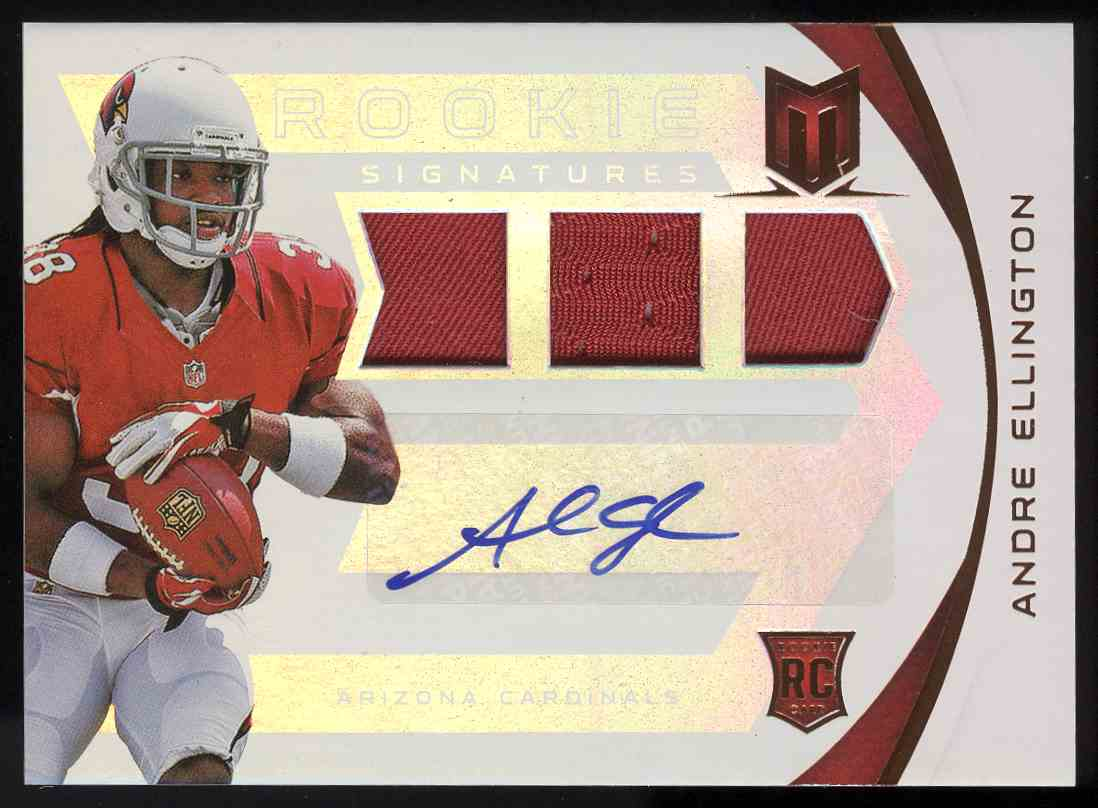 2013 Panini Momentum Rookie Signatures Rps Andre Ellington #202 card front image