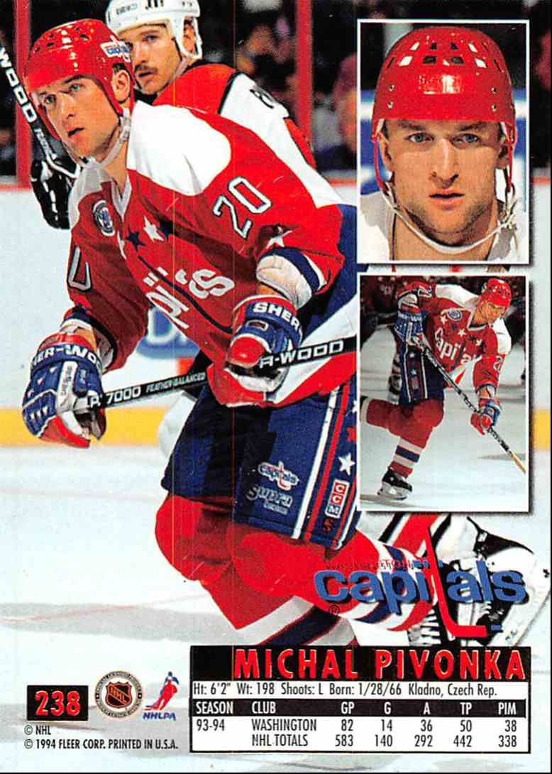 1994-95 Ultra Michal Pivonka #238 card back image
