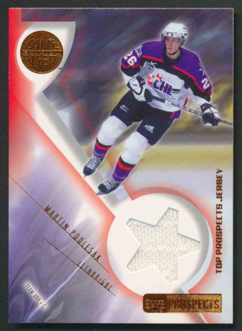 2001-02 Upper Deck CHL Prospects Martin Poolesak #J-PO card front image