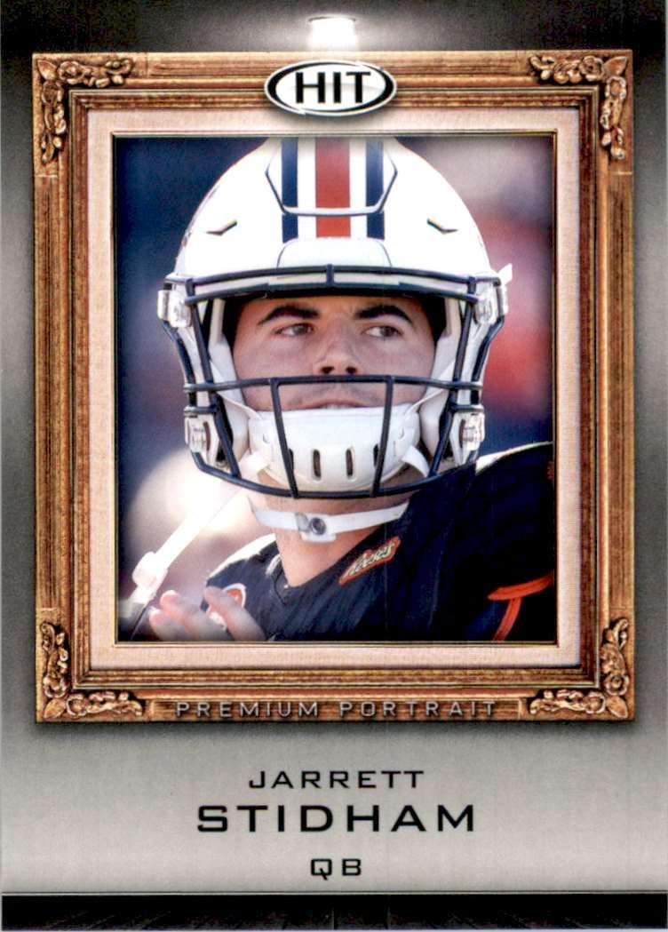 2019 Sage Hit Premium Portraits Jarrett Stidham #PP3 card front image