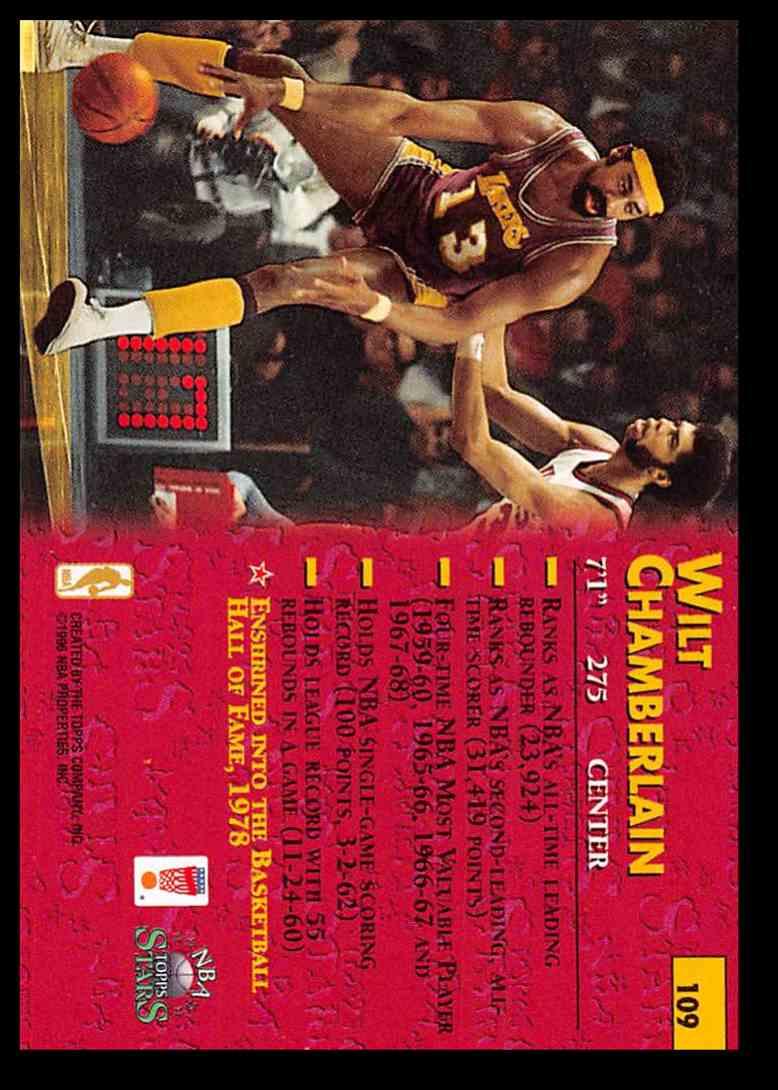 1996-97 Topps Topps Stars Wilt Chamberlain #109 card back image