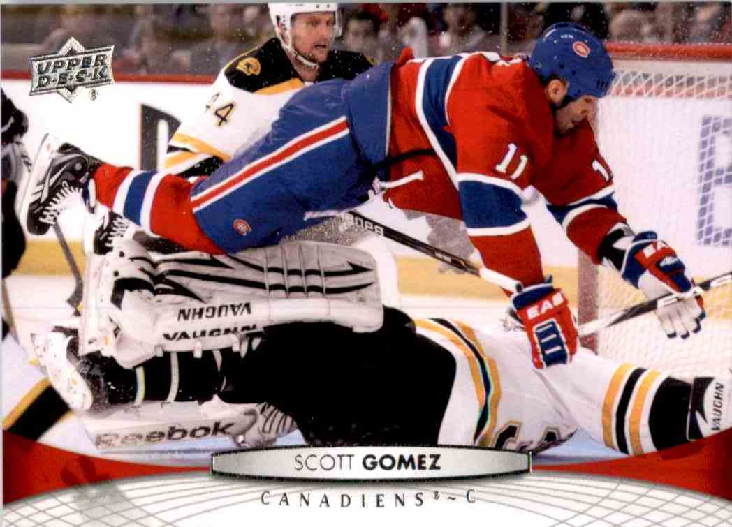 2011-12 Upper Deck Scott Gomez #101 card front image