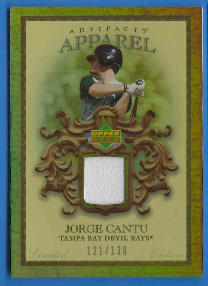 2007 Artifacts MLB Apparel Limited Jorge Cantu #MLBJC card front image