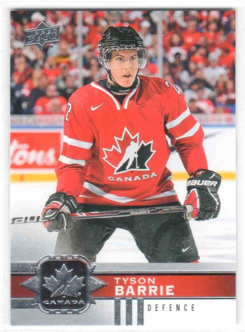 2017-18 Upper Deck Team Canada Canadian Tire Tyson Barrie #63 card front image