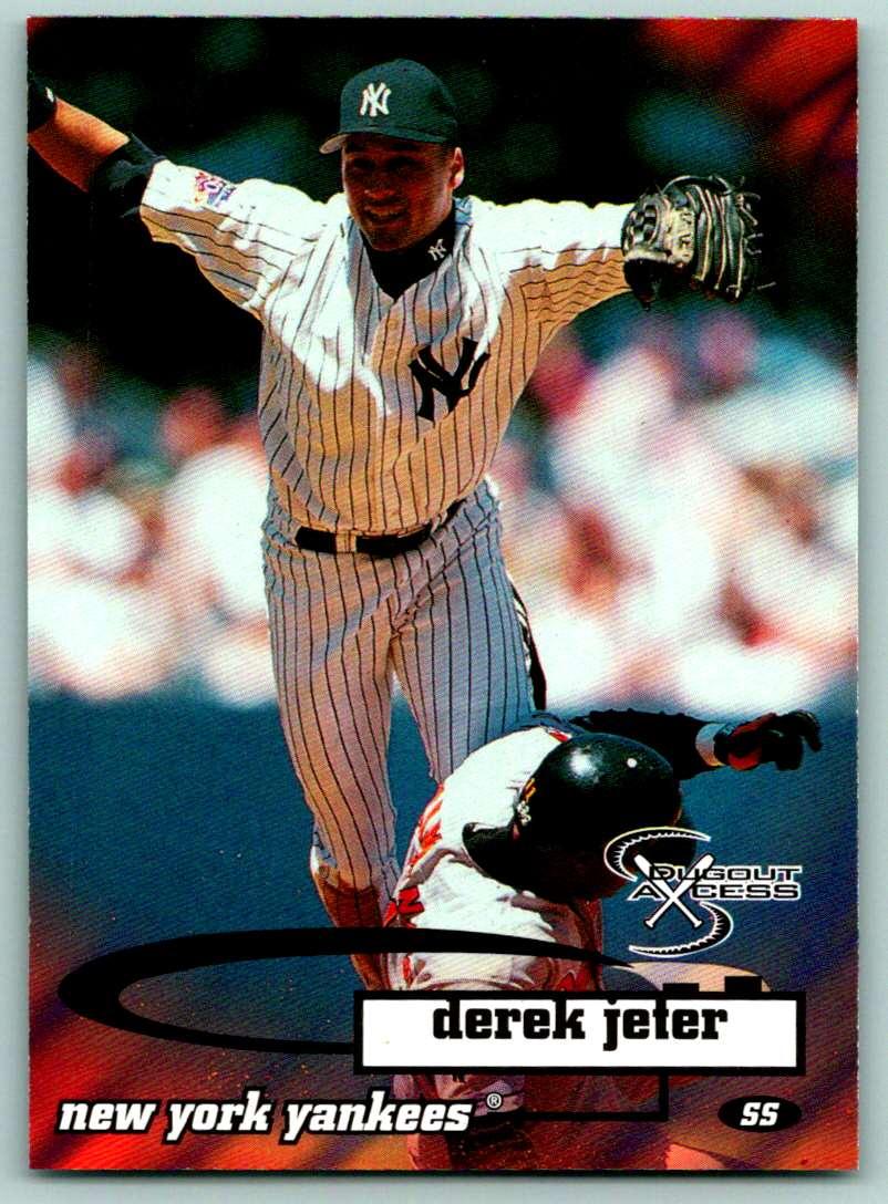 1998 Skybox Dugout Axcess Derek Jeter #73 card front image