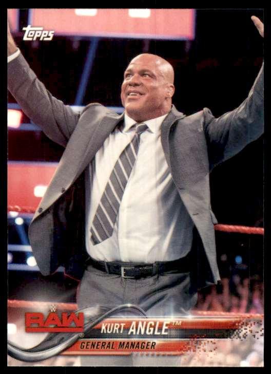 2018 Topps Wwe Kurt Angle #49 card front image