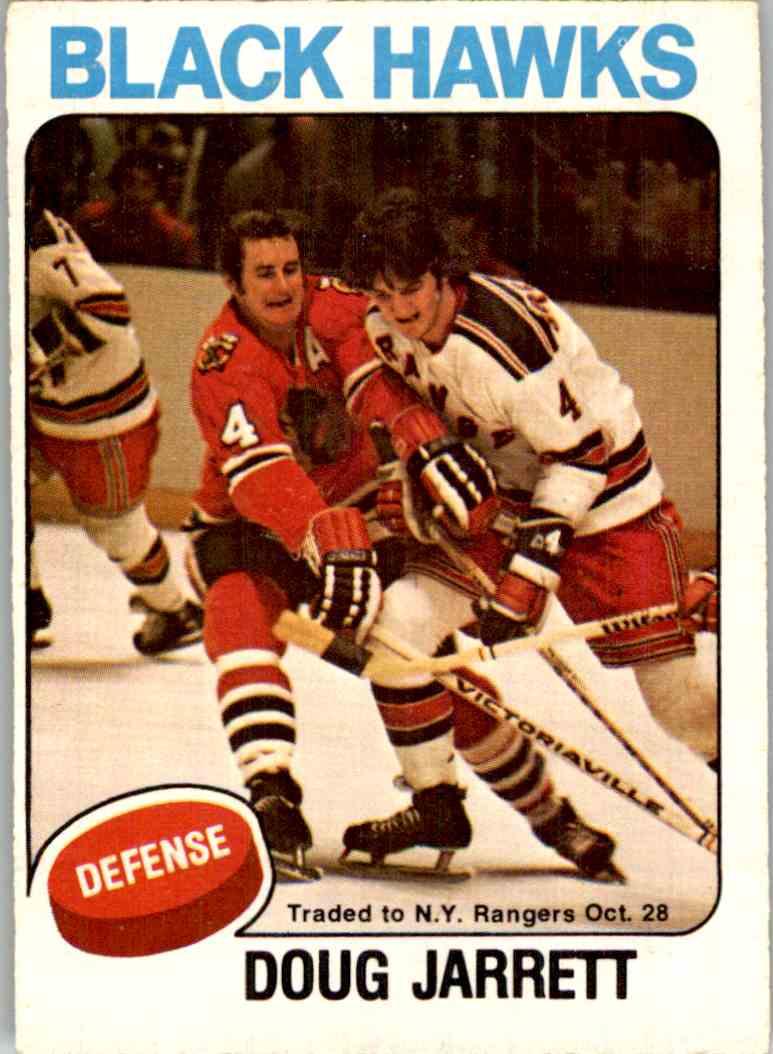 1975-76 O-Pee-Chee Doug Jarrett #333 card front image