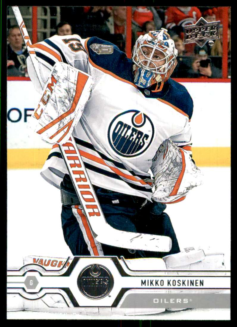 2019-20 Upper Deck Mikko Koskinen #191 card front image