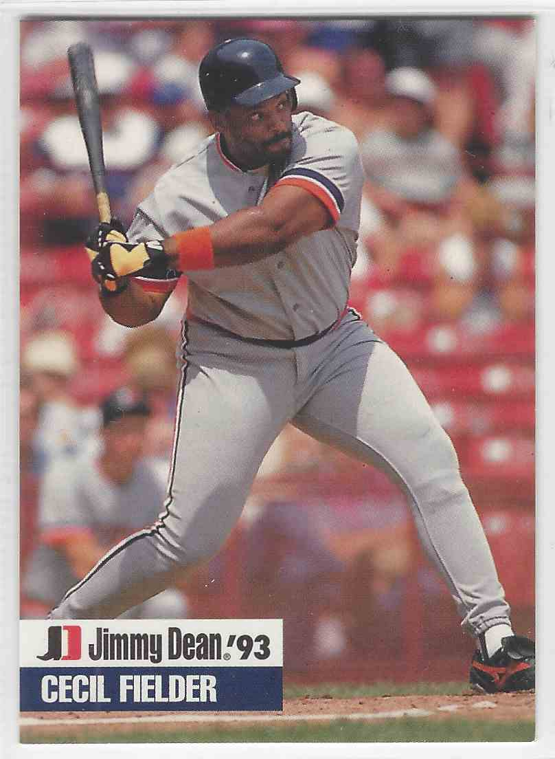 1993 Jimmy Dean Signature Edition Cecil Fielder 12 On