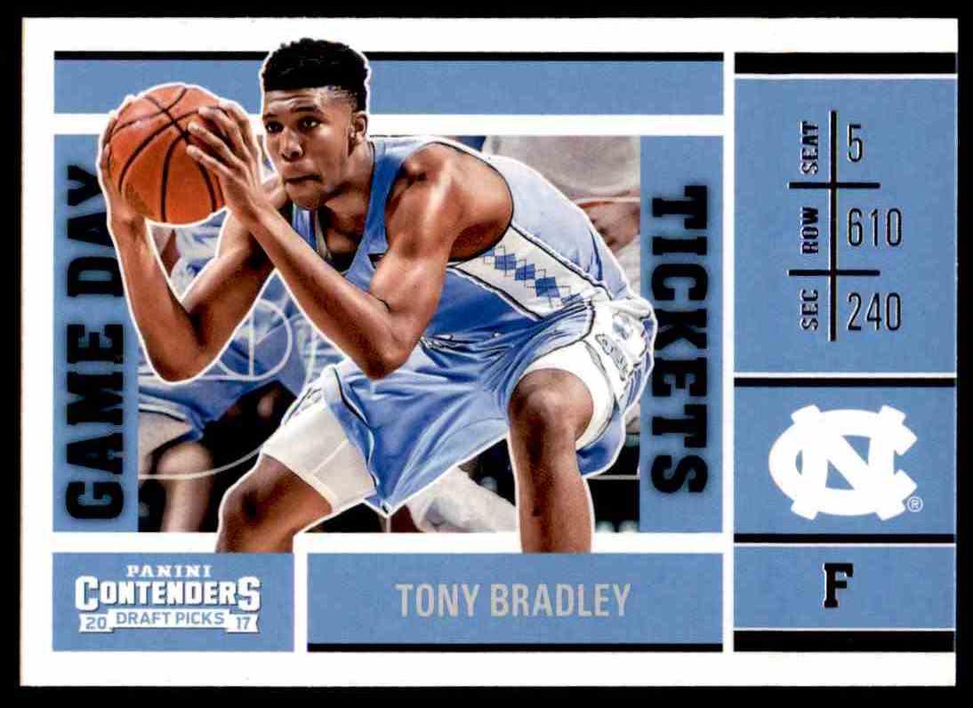 2017-18 Panini Contenders Draft Picks Tony Bradley #25 card front image
